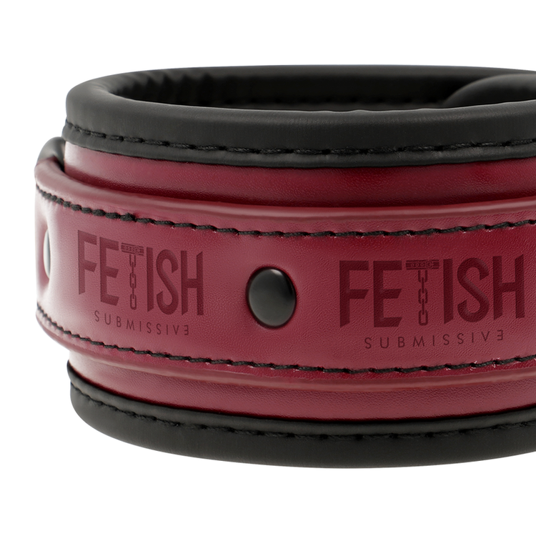 FETISH SUBMISSIVE DARK ROOM ANKLE CUFFS VEGAN LEATHER