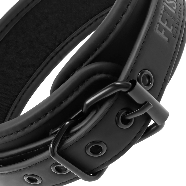 FETISH SUBMISSIVE COLLAR WITH LEASH