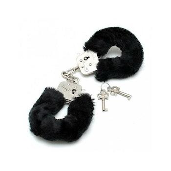 Rimba, Bondage play police cuffs with soft black fur