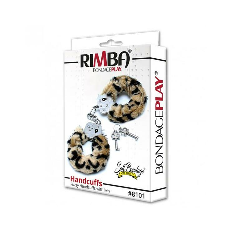 Rimba, Bondage play police cuffs with soft leopard fur