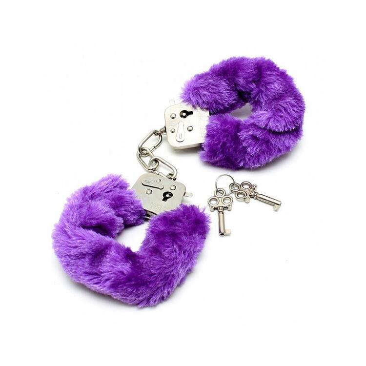 Rimba, Bondage play police cuffs with soft purple fur