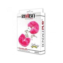 Rimba, Bondage play police cuffs with soft pink fur