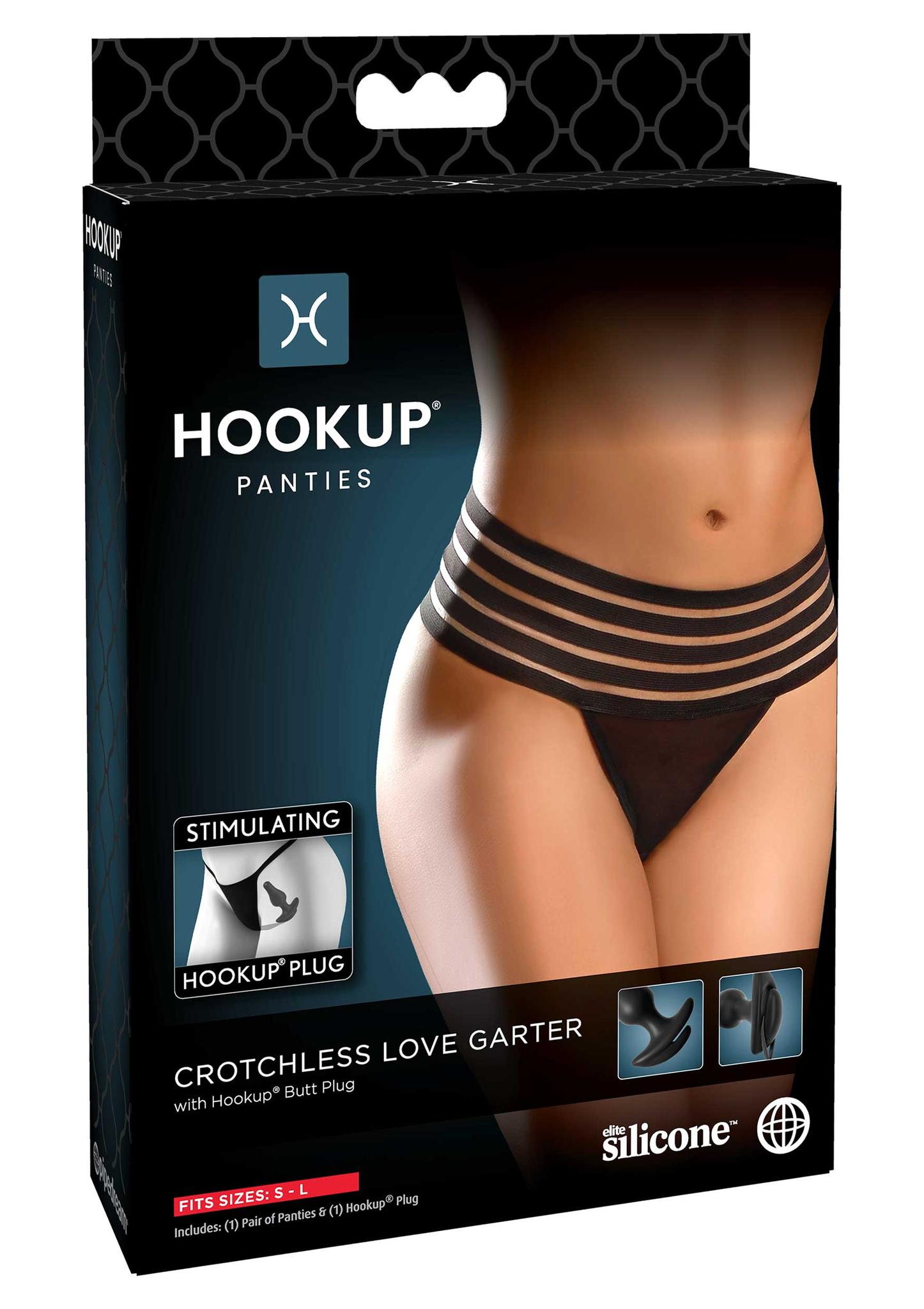 Hookup panties, Crotchless Love Garter