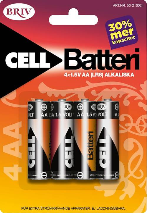 Batteri AA LR6 4-pack