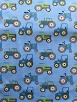 Trikå- Traktor Blå