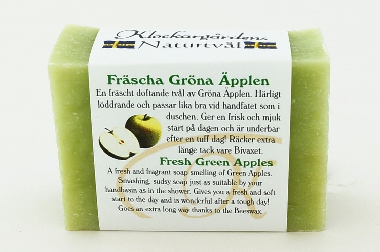 Tvål-Fräsha gröna äpplen