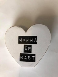 Stående hjärta Mamma litet