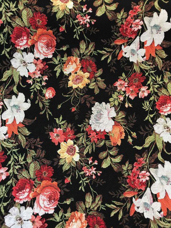 Möbeltyg Blommranka
