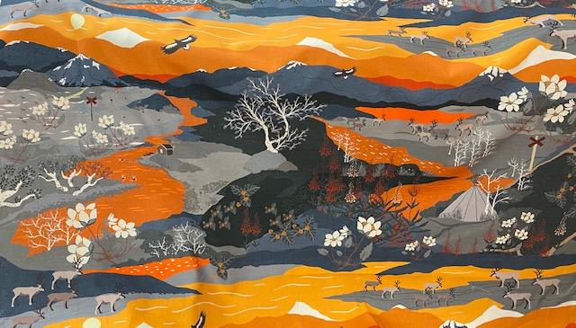 Fjällvandring- orange