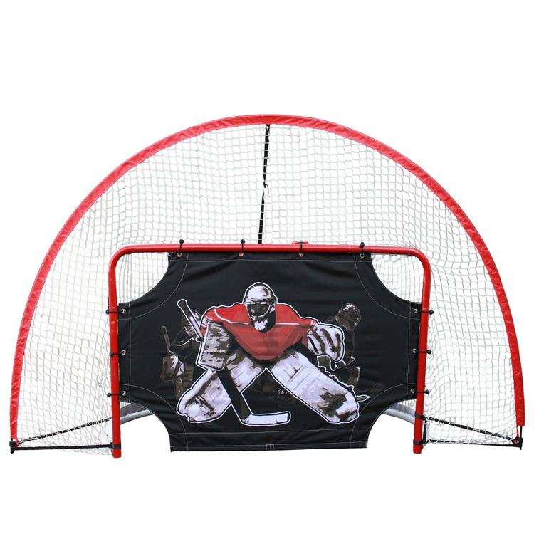 nät bakom hockeymål