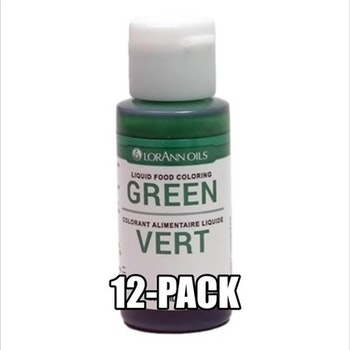 Grønn Konditorfarge Eske med 12 flaske à 29,5ml