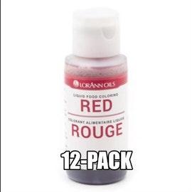 Rød Konditorfarge Eske med 12 flaske à 29,5ml