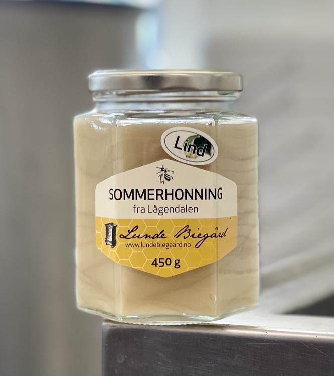 450g Lindehonning på glass