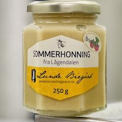 250 g Sommerhonning på glass (Bringebærhonning)