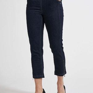 Piper Regular Cropped Jeans dongeri blå