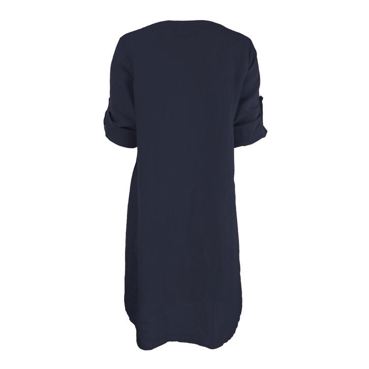 Bohéme kjole med 3/4 arm - mørk blå