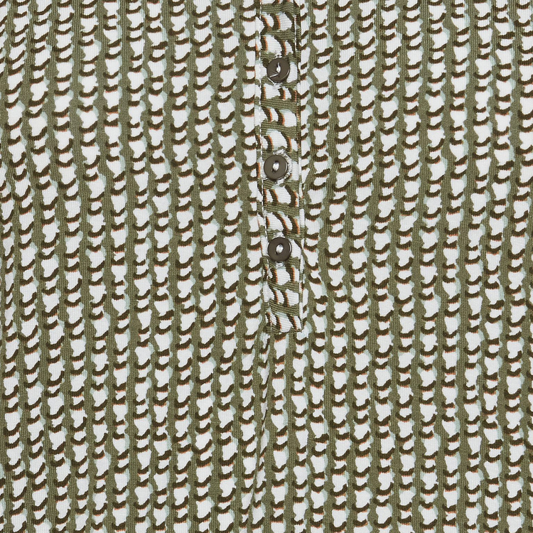 Fransa top - Dusty Olive graphic Mix