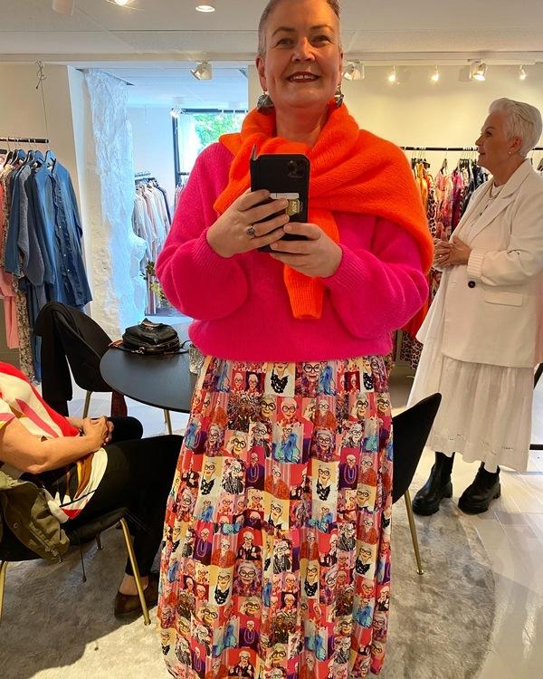 Carmen Maxi kjole Iris Apfel