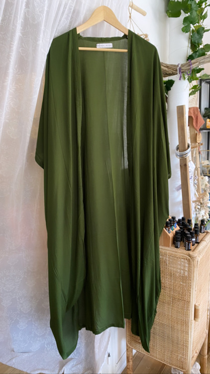 Kimono Mossgrön 110 cm - Be You