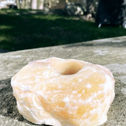 Orange kalcit, lykta