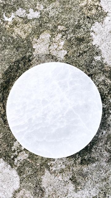 Selenitplatta, cirkel