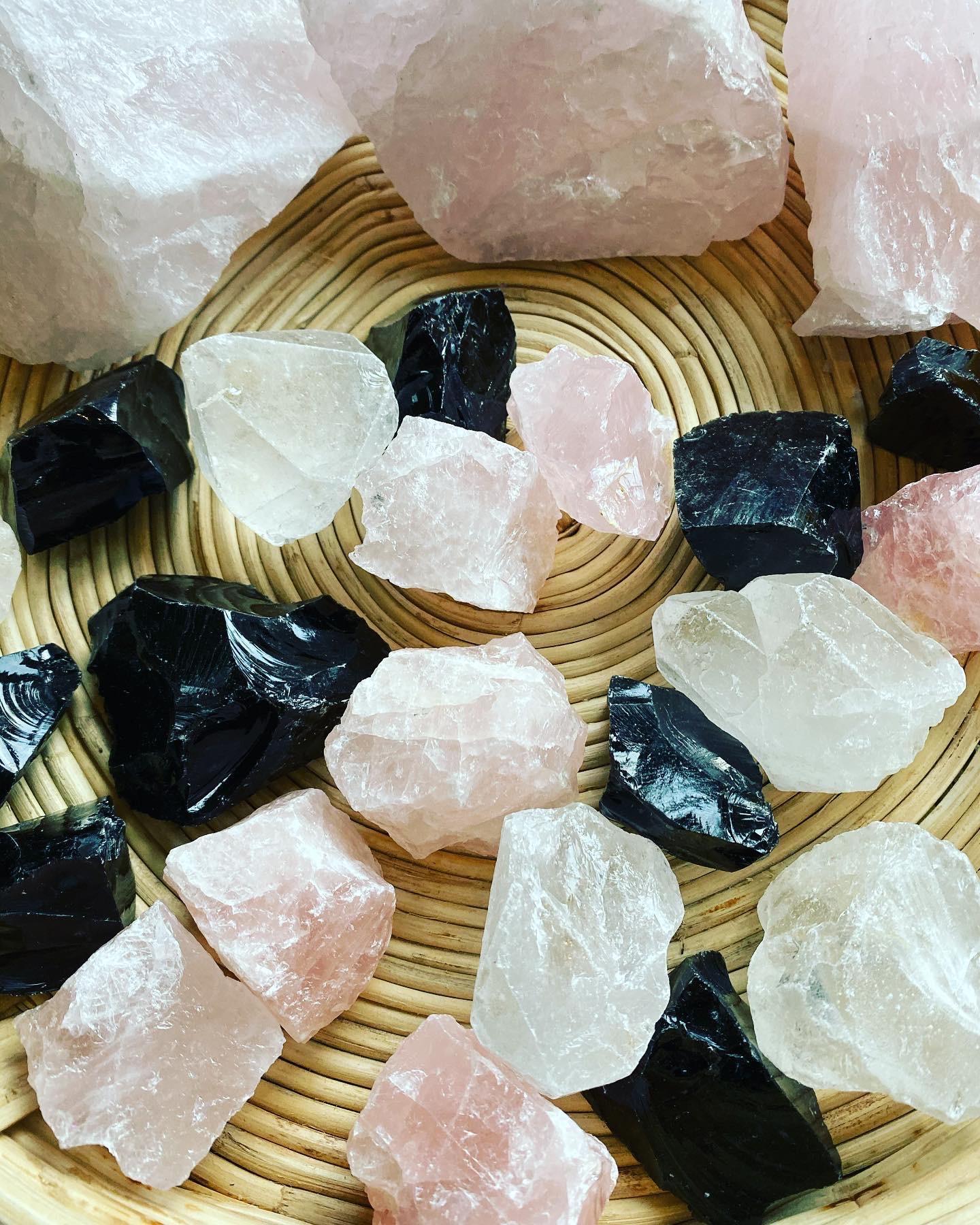 Bergkristall, rå