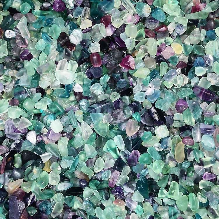 Kristallvattenflaska - Glas - Positive (Fluorit)