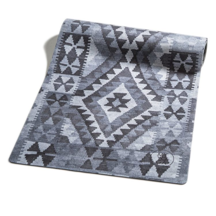 Yogamatta, Kelim Mönster i grå toner