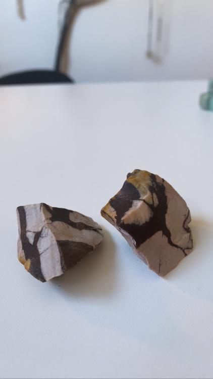 Zebra jaspis, brun  Rå(Chokladjaspis)