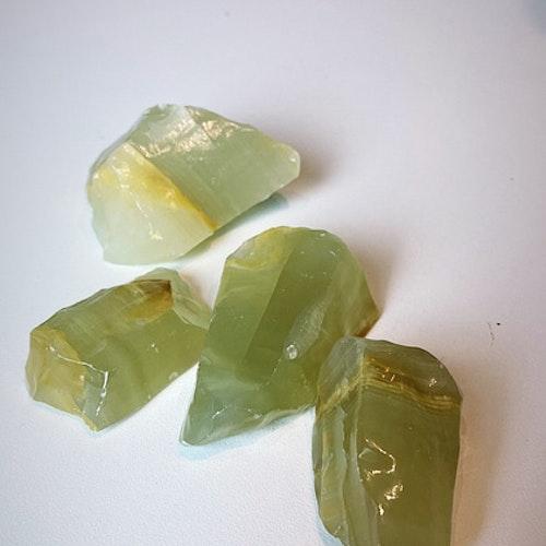 Grön Kalcit, rå