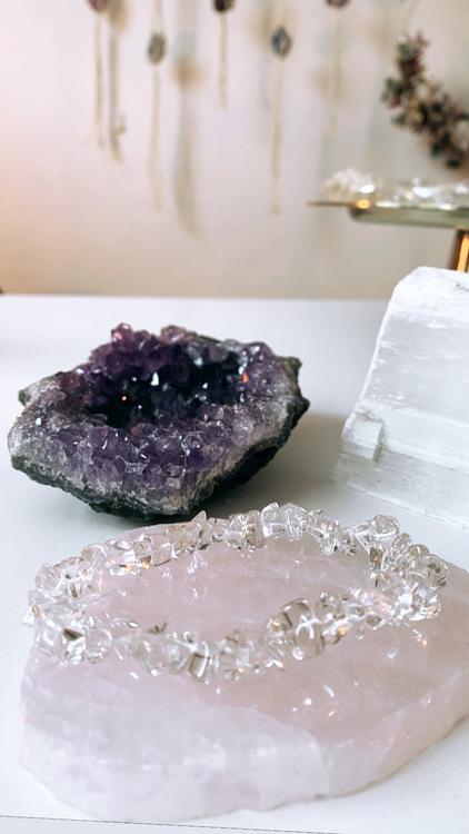 Bergkristall, healing-armband