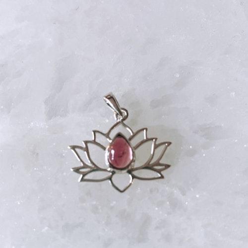 Lotusblomma silver, Rosa Turmalin