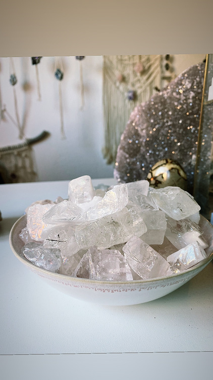 Ice kalcit, rå