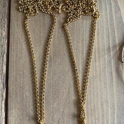 Måne, halsband guld
