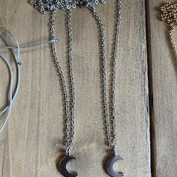 Måne, halsband silver