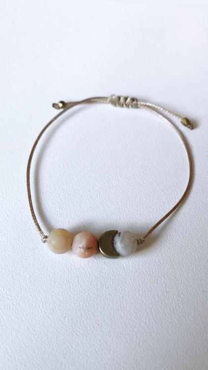 Bambuagat med måne, armband