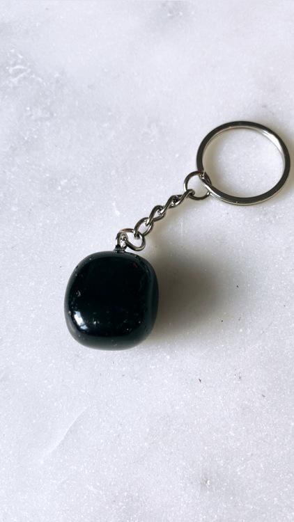 Svart Obsidian, nyckelring