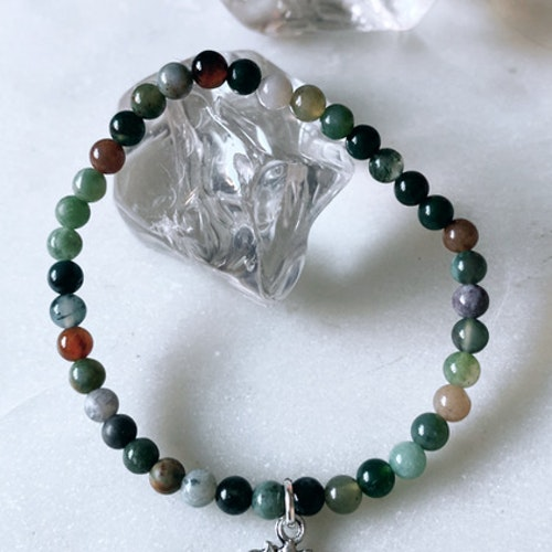 Indisk agat med Lotus, armband