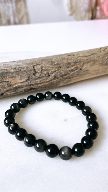 Silver Sheen Obsidian, armband