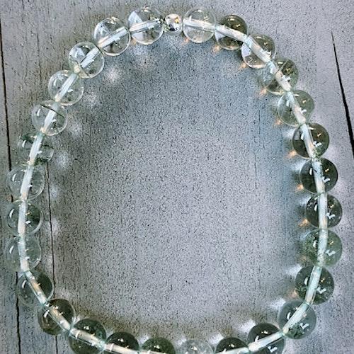 Lodolit, kristallarmband med silverkula