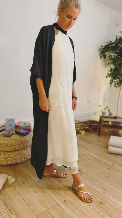 Kimono 110 cm Havsblå- Be You