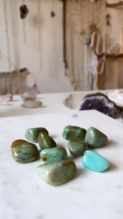 Grön Opal, trumlad