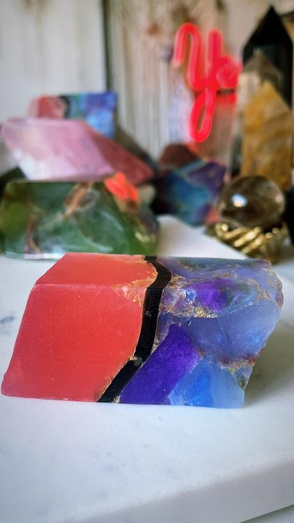 Kristalltvål - fire Opal S