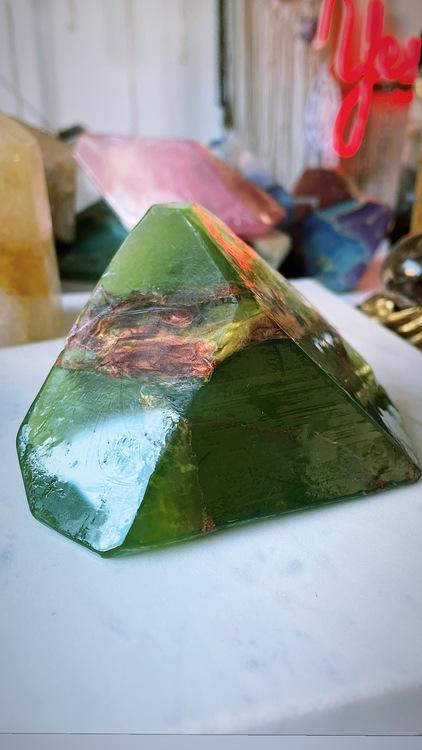 Kristalltvål - Grön granat M