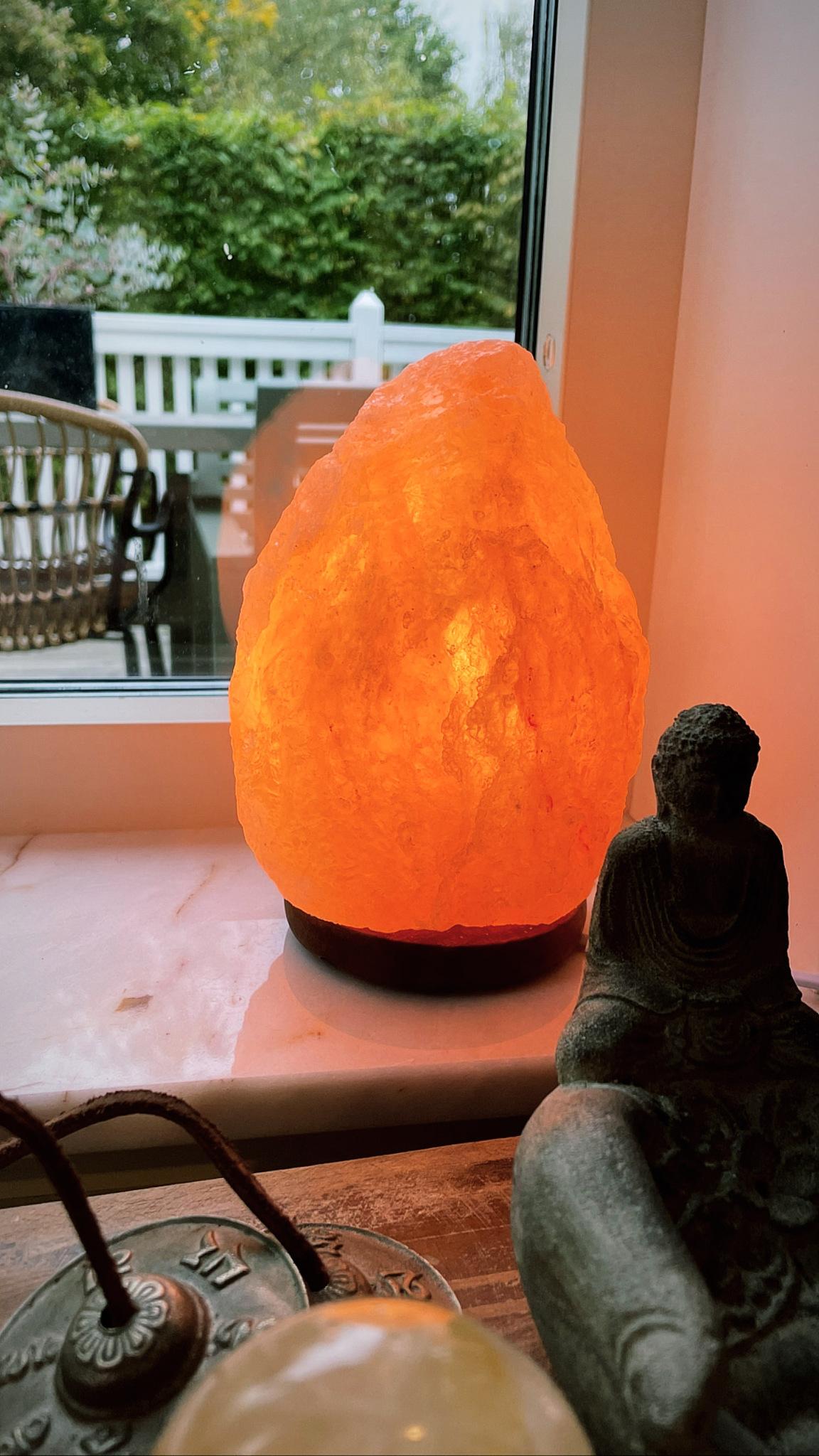 Orange saltsten, lampa