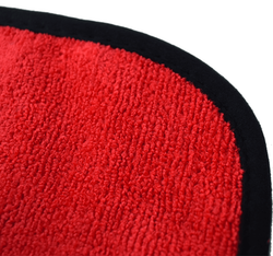 """Suede Edge Drago - Red 16""""x16"""""""