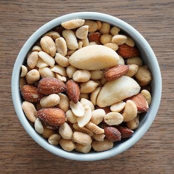 Blandade nötter rostade & saltade