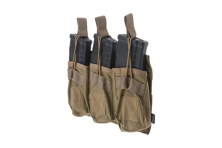 Triple OPEN Pouch for AK Magasin - Tan