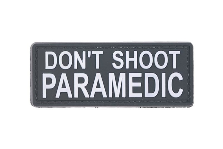 DON'T SHOOT PARAMEDIC - 3D Patch