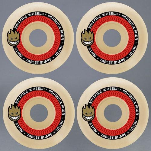 Spitfire Formula Four Tablets Red 53mm 101A Skateboard Hjul